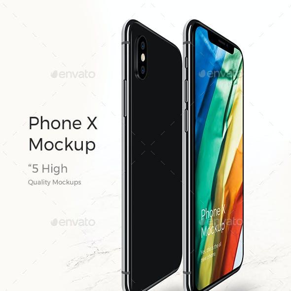 Realistic Phone X Mock-up