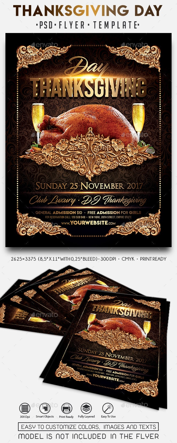 Thanksgiving Day - Events Flyers