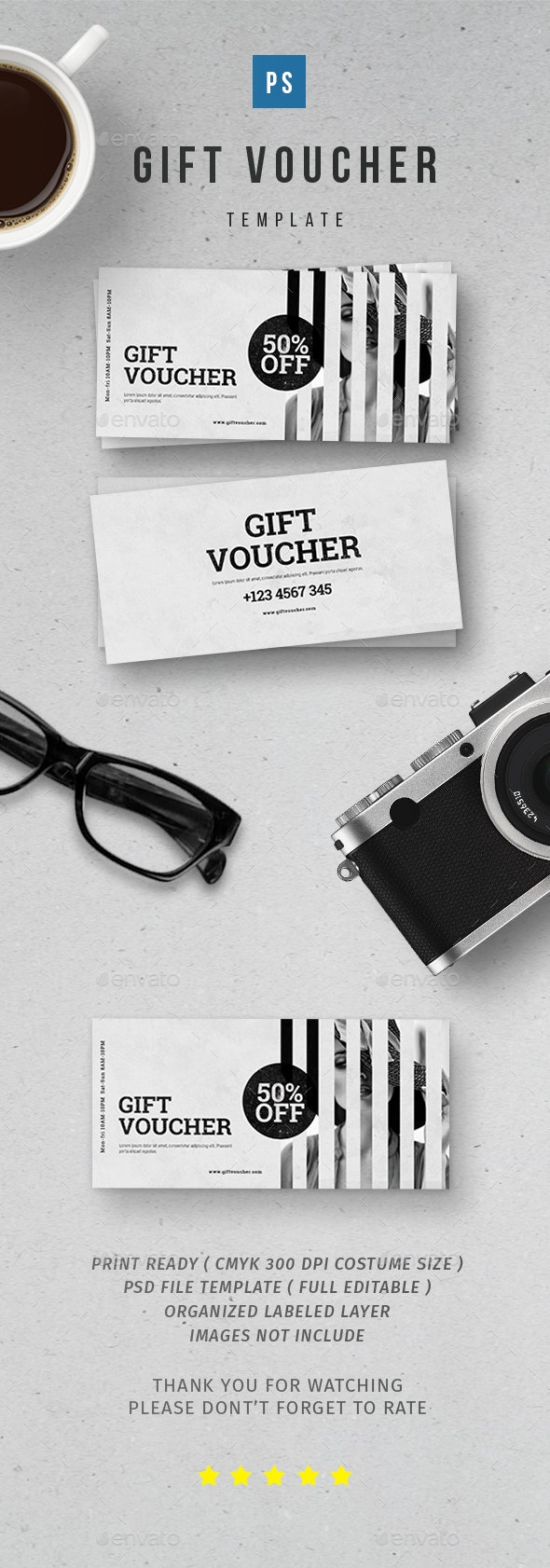 Gif Voucher - Print Templates