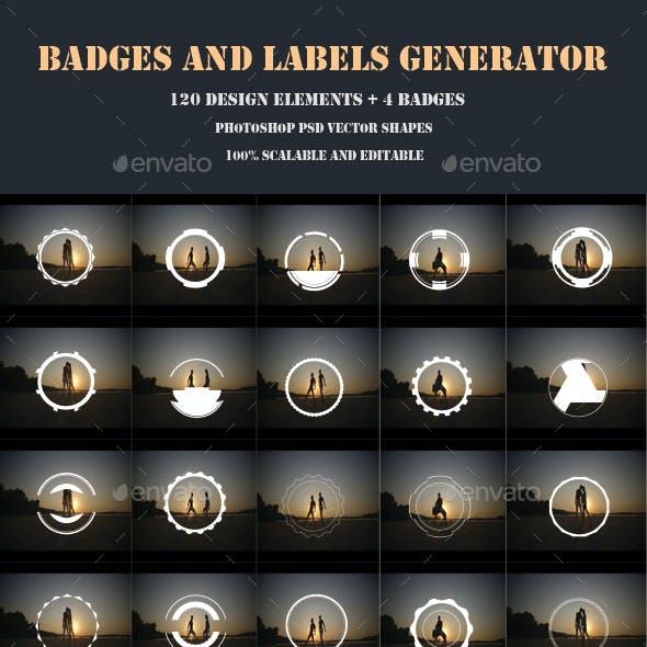 Badges and Labels Generator Vol. 3