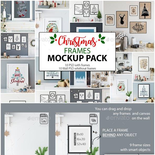 Christmas Frame Mockup Pack