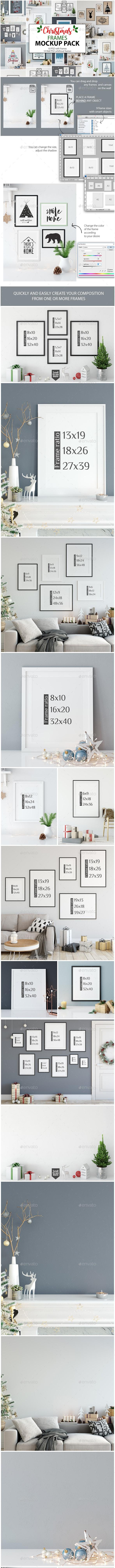 Christmas Frame Mockup Pack - Print Product Mock-Ups