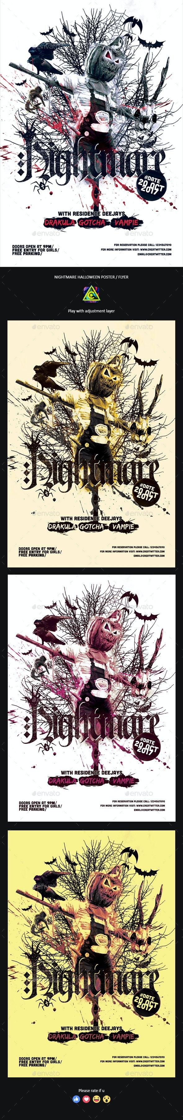 Nightmare Halloween Poster / Flyer - Clubs & Parties Events