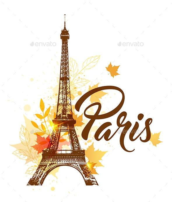 Autumn Paris Background - Travel Conceptual