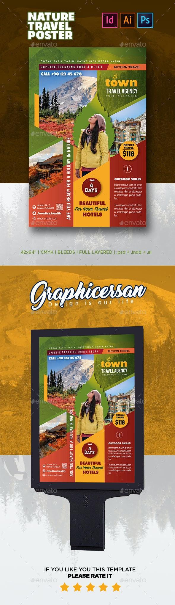 Nature Travel Poster - Signage Print Templates