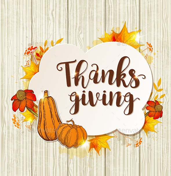 Greeting Card for Thanksgiving Day - Miscellaneous Seasons/Holidays