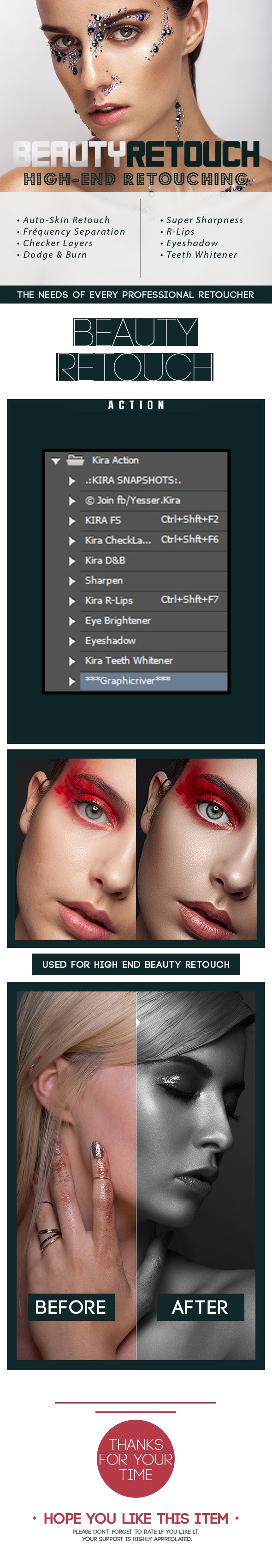 Kira Retouching Action - Photo Effects Actions
