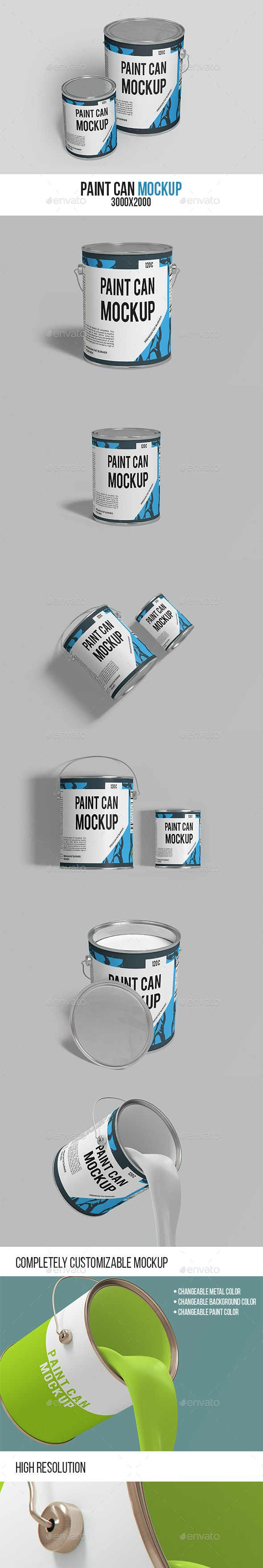 Paint Can Mockup - Miscellaneous Packaging