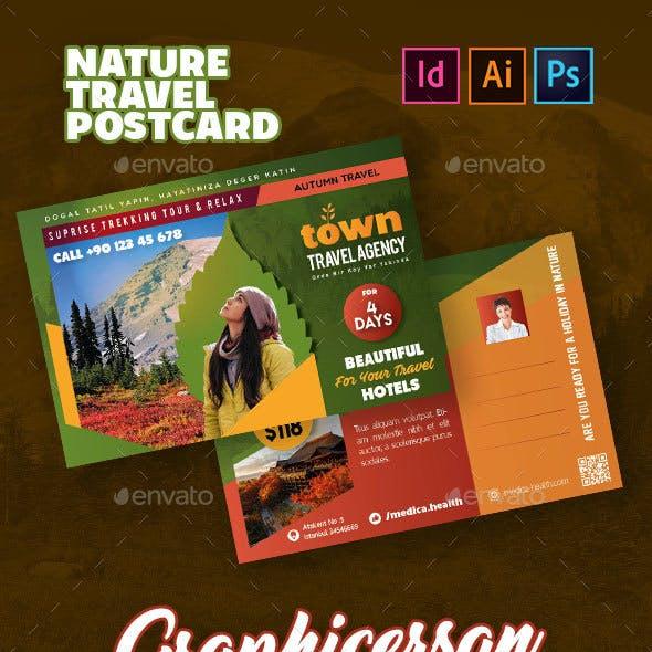 Nature Travel Postcard Templates