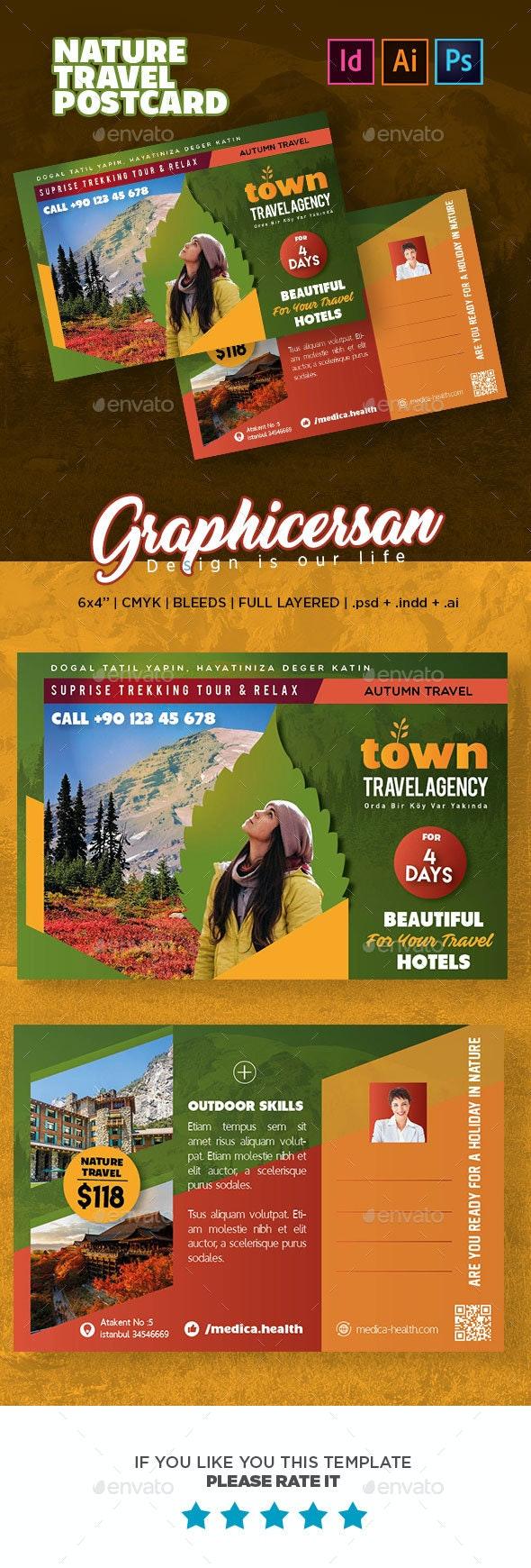 Nature Travel Postcard Templates - Cards & Invites Print Templates