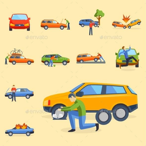 Car Crash Collision Traffic Insurance Safety - Miscellaneous Vectors