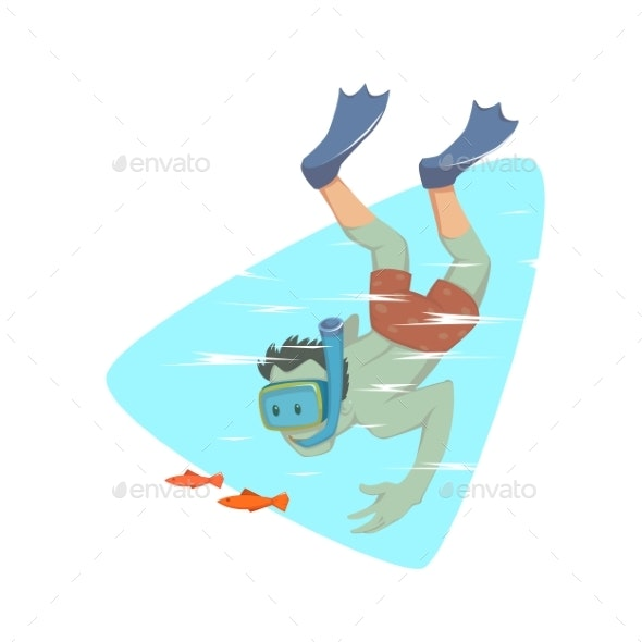 Man Snorkeling in the Ocean - Sports/Activity Conceptual