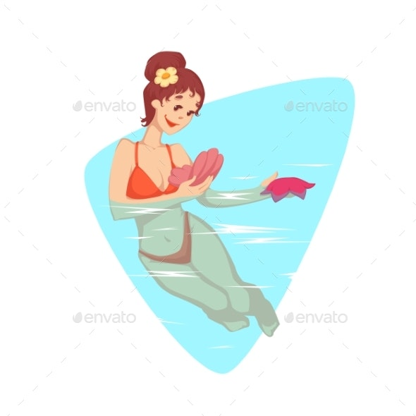 Woman Swimming in the Water - Sports/Activity Conceptual