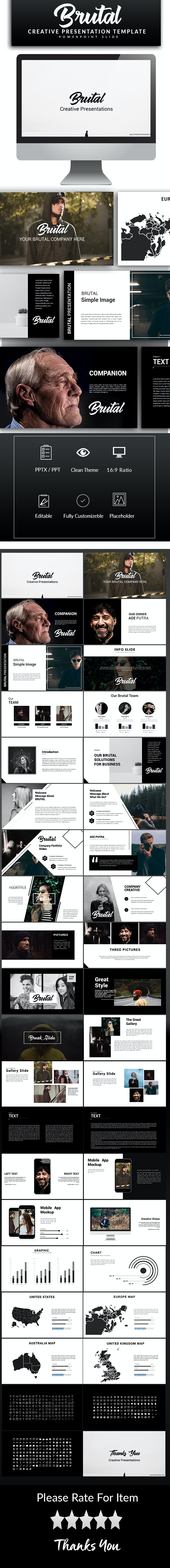 Brutal Powerpoint Template - PowerPoint Templates Presentation Templates