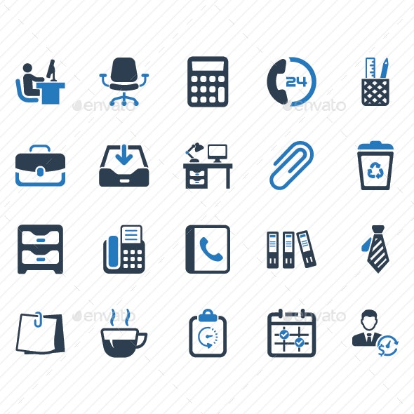 Office Icons - Blue Version - Business Icons