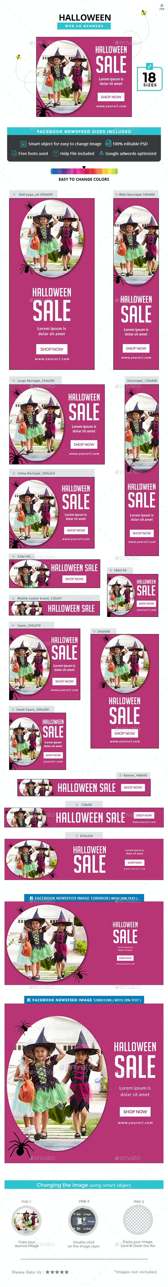 Halloween Banners - Banners & Ads Web Elements