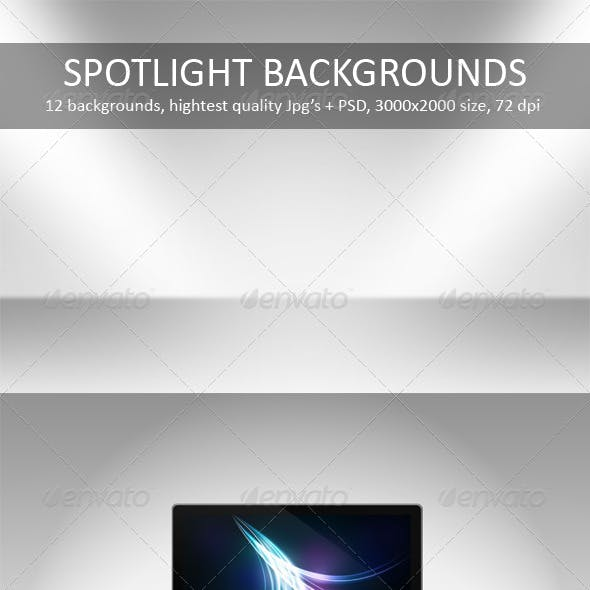 12 Spotlight Backgrounds Pack