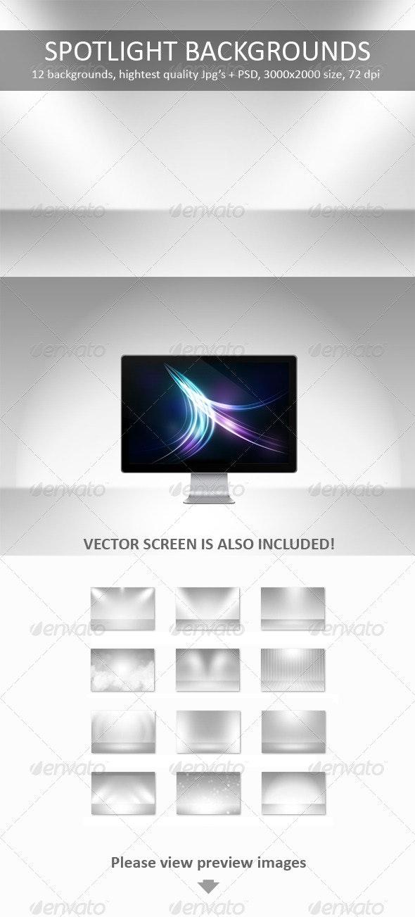 12 Spotlight Backgrounds Pack - Backgrounds Graphics