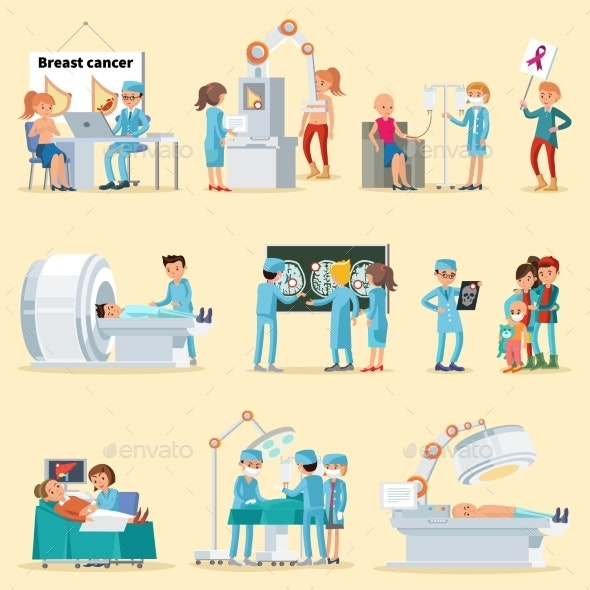 People and Cancer Disease Collection - Health/Medicine Conceptual