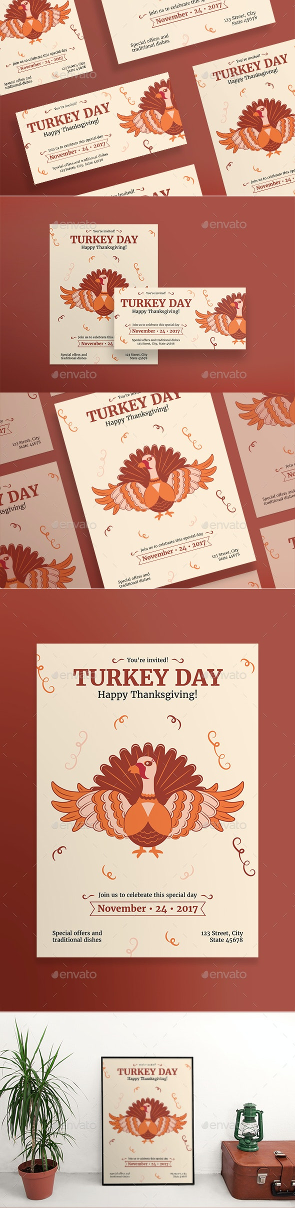 Turkey Day Flyers - Holidays Events