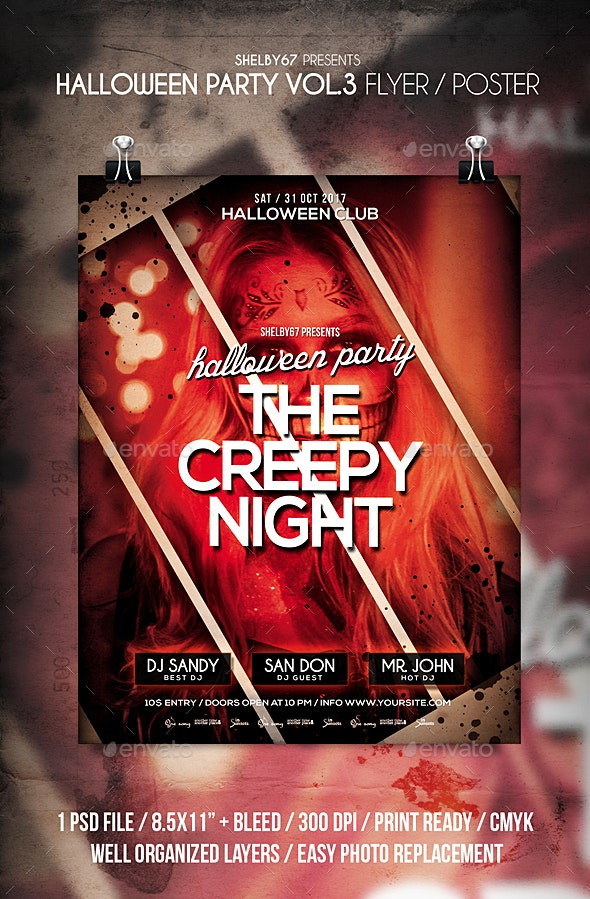 Halloween Party Flyer / Poster Vol 3 - Events Flyers