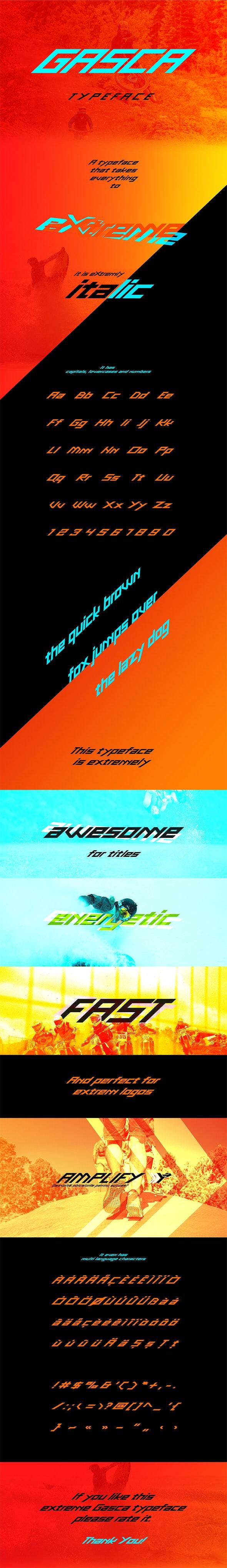 Gasca Typeface - Futuristic Decorative