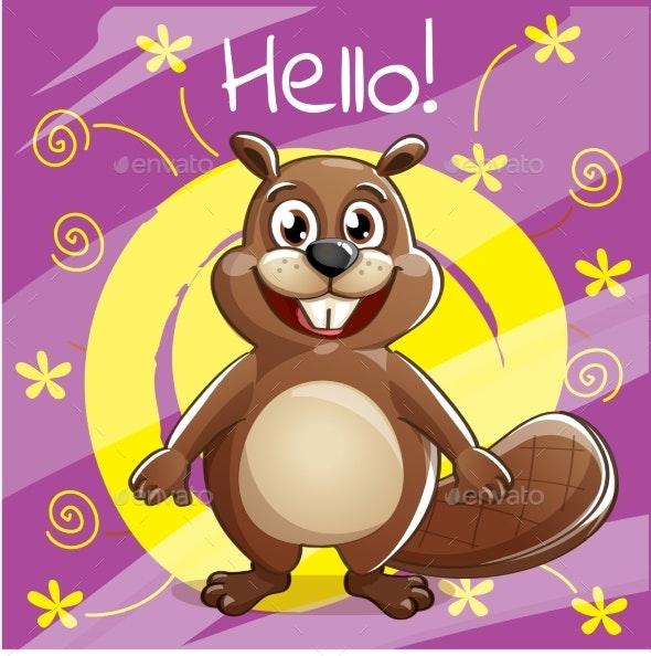 Cartoon Beaver - Animals Characters