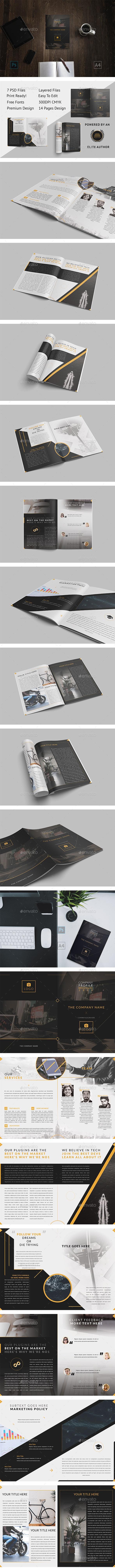 Brochure - GoDesign Bi-Fold Template - Brochures Print Templates