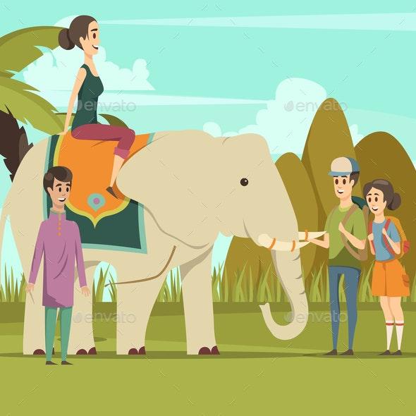 Indian Elephant Background - Miscellaneous Vectors