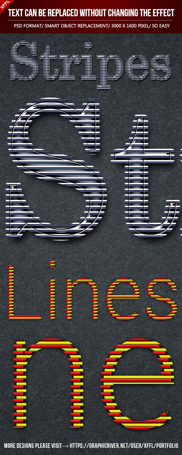 Lines Text Effects - Text Effects Actions