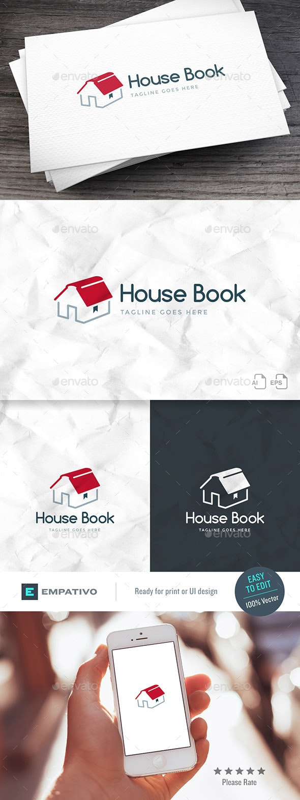 House Book Logo Template - Objects Logo Templates