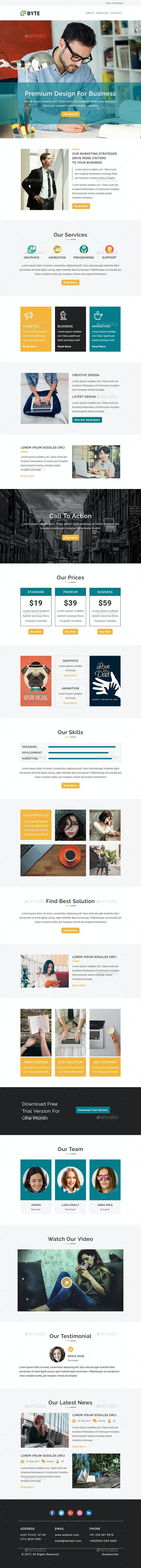 Byte - Email Newsletter PSD Template - E-newsletters Web Elements