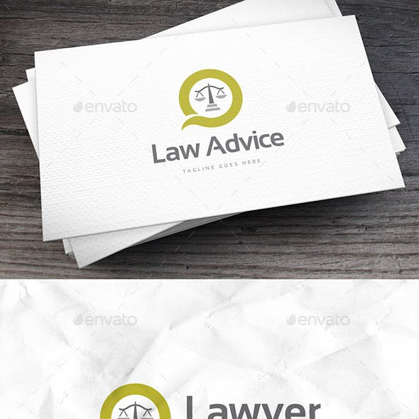 Law Advice Logo Template