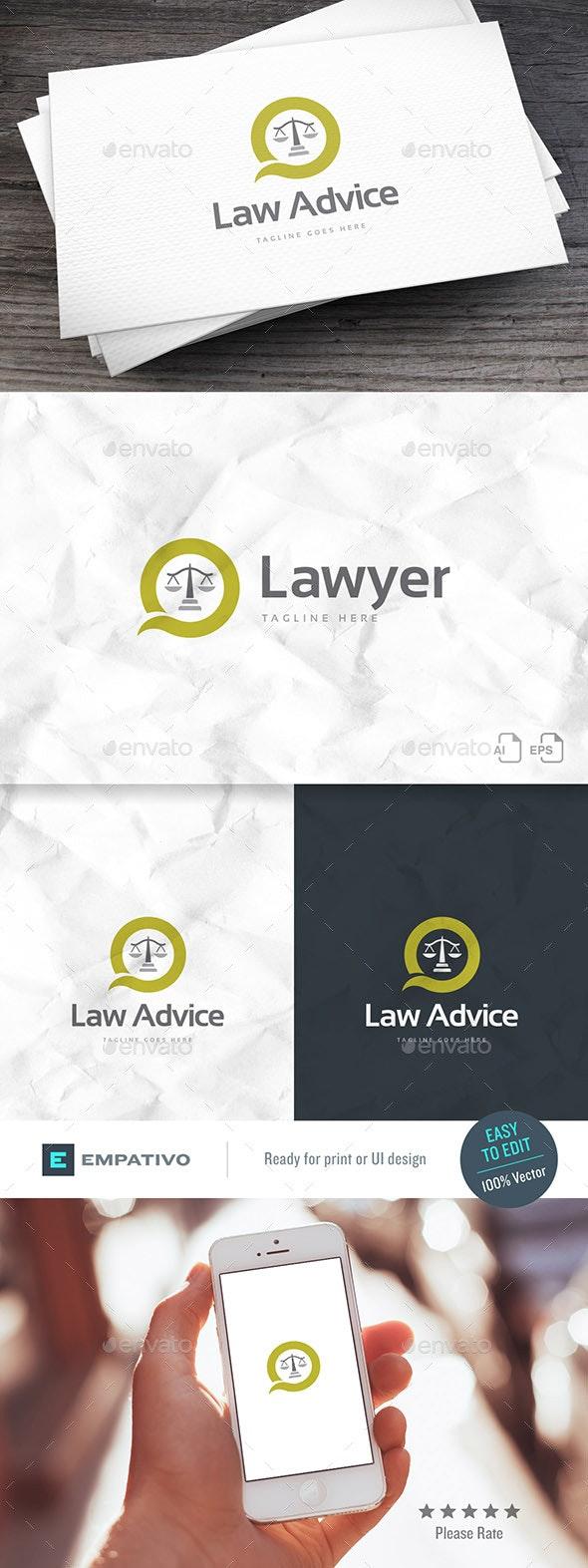 Law Advice Logo Template - Symbols Logo Templates
