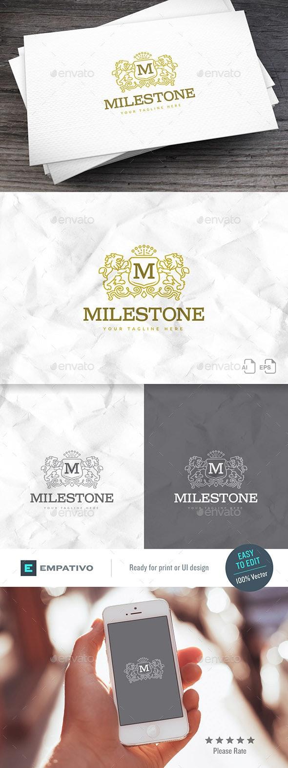 Milestone Logo Template - Crests Logo Templates