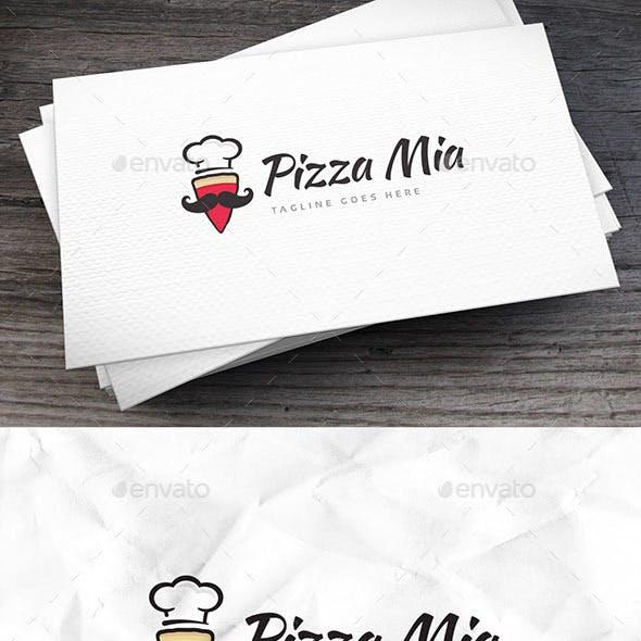 Pizza Mia Logo Template