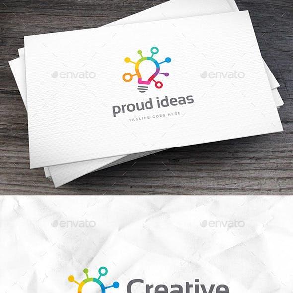 Proud Ideas Logo Template