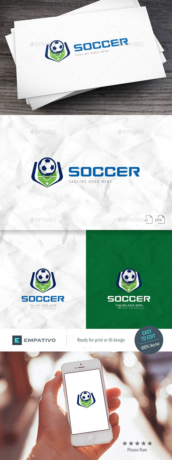 Soccer Court Logo Template - Symbols Logo Templates