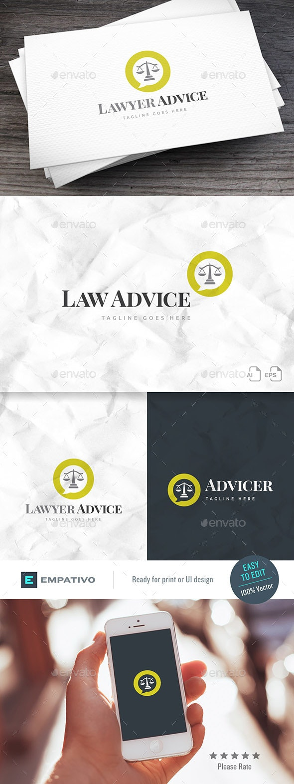 Lawyer Advice Logo Template - Symbols Logo Templates