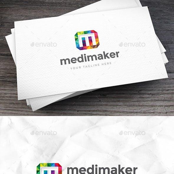 Mediamaker Letter M Logo Template