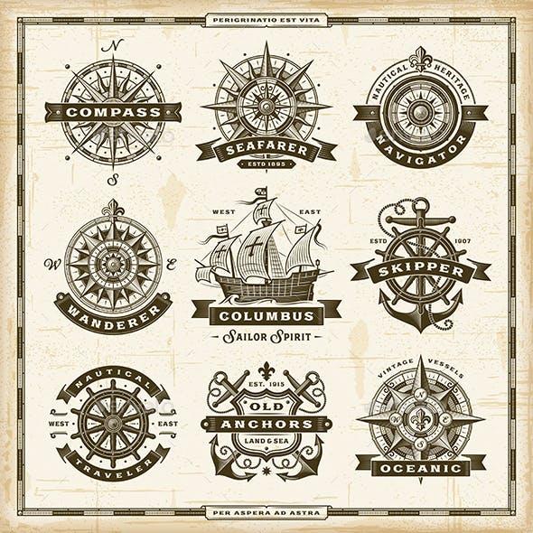 Vintage Nautical Labels Collection
