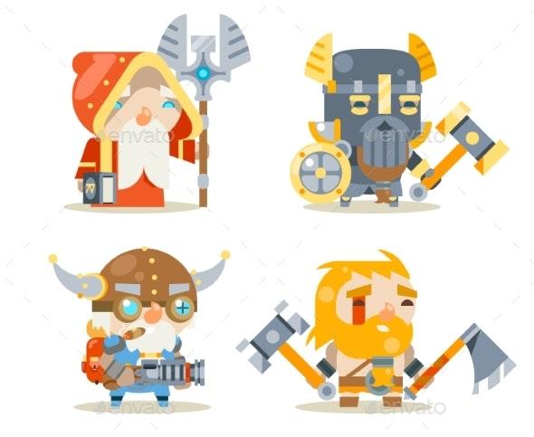 Dwarfs Warrior Defender Rune Mage Priest Berserker - People Characters