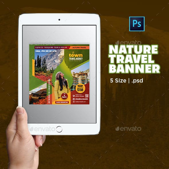 Nature Travel Banner Template
