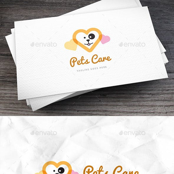 Pets Care Logo Template