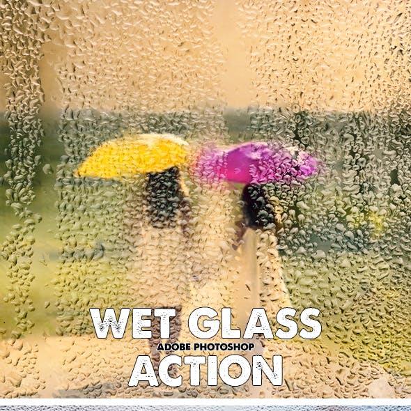 Wet Glass Photoshop Action Bundle