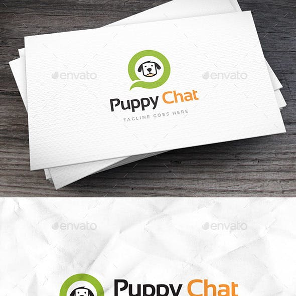 Puppy Chat Logo Template