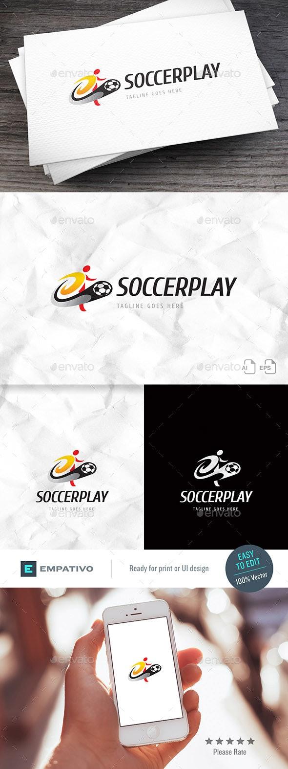 Soccerplay Logo Template - Humans Logo Templates