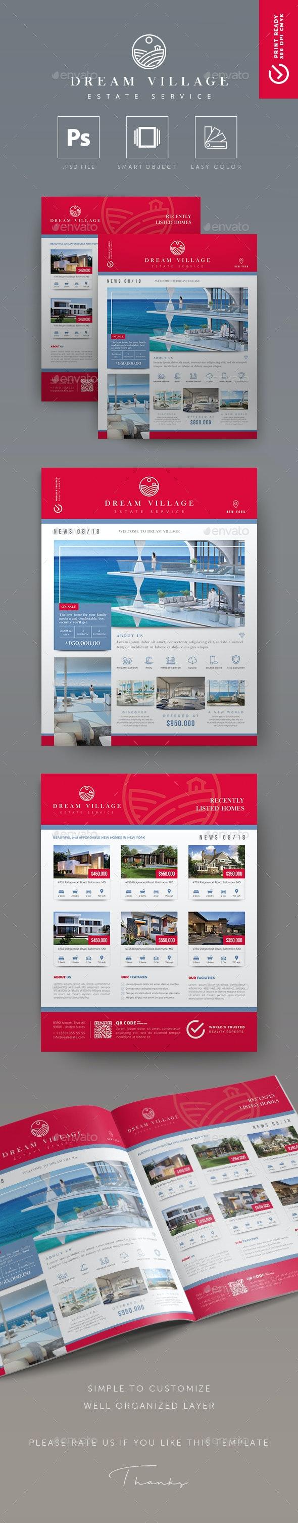 Dream Village - Creative Real Estate Flyer - Commerce Flyers
