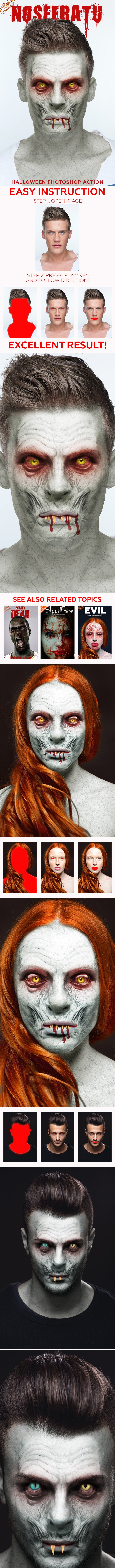 Nosferatu Photoshop Action - Photo Effects Actions