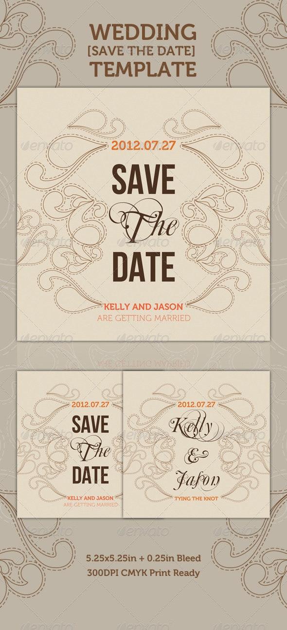 Wedding - 'Save the Date' - Romantic - Weddings Cards & Invites